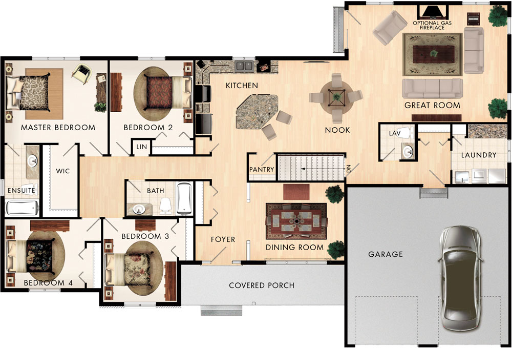 Beaver homes and cottages sinclair for Home hardware floor plans