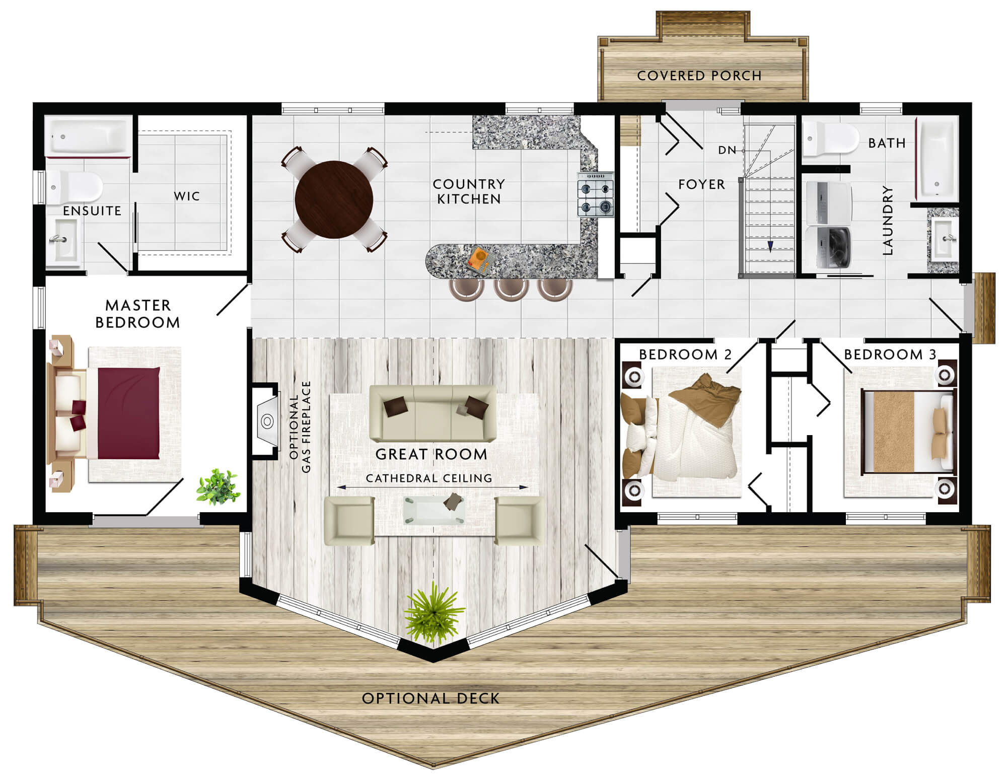 Beaver homes and cottages banff ii for House plans with 2 bedrooms in basement