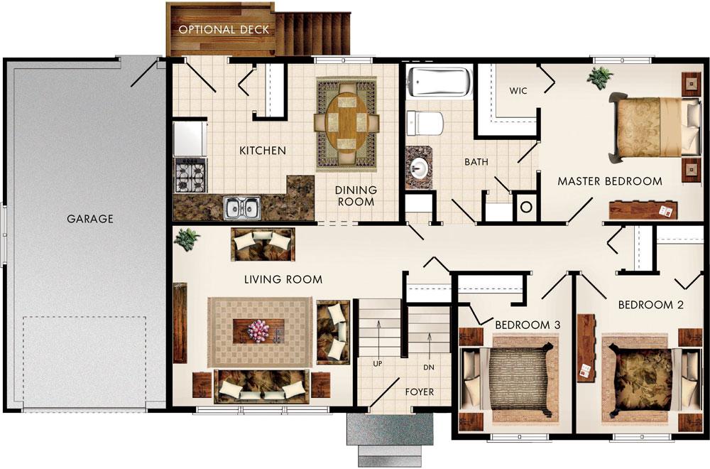 Beaver homes and cottages elmhurst ii for Home hardware floor plans