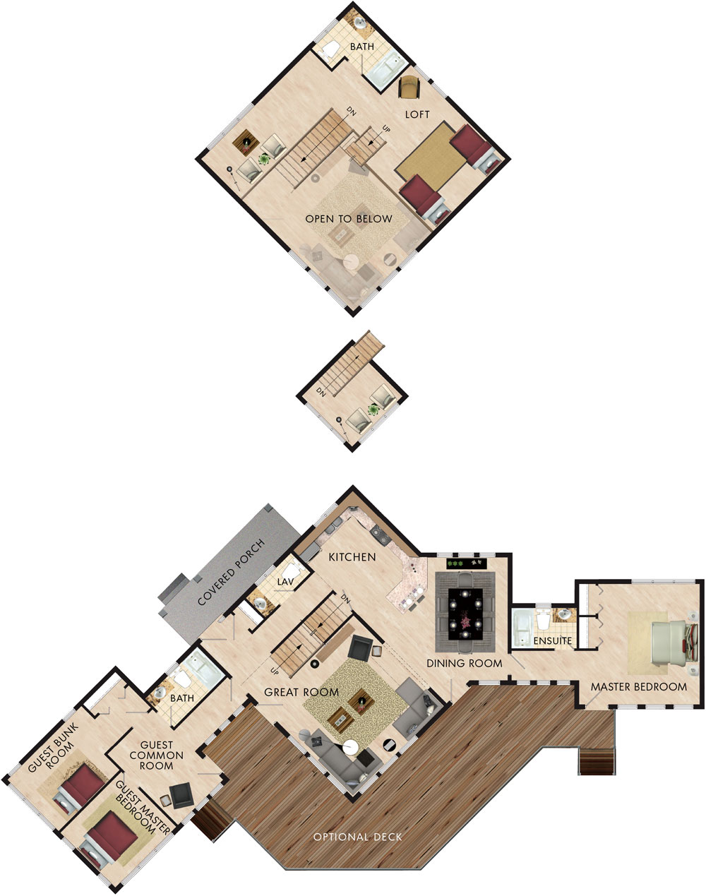 Home hardware prescott floor plan for Cottage plans home hardware