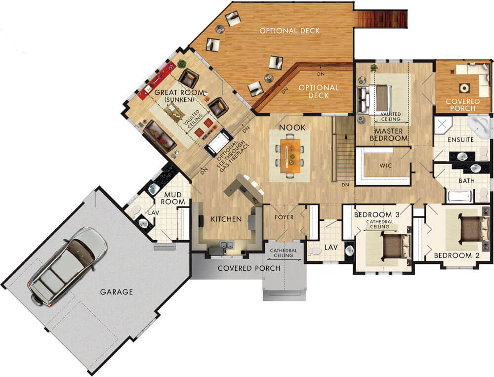 Beaver homes and cottages glenbriar ii for Cedar home floor plans