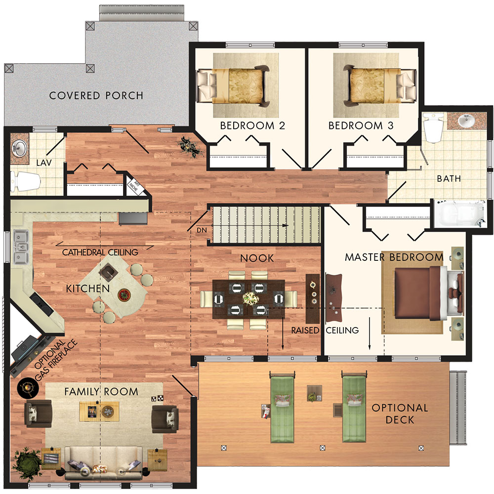 Beaver homes and cottages aspen ii for Aspen homes floor plans