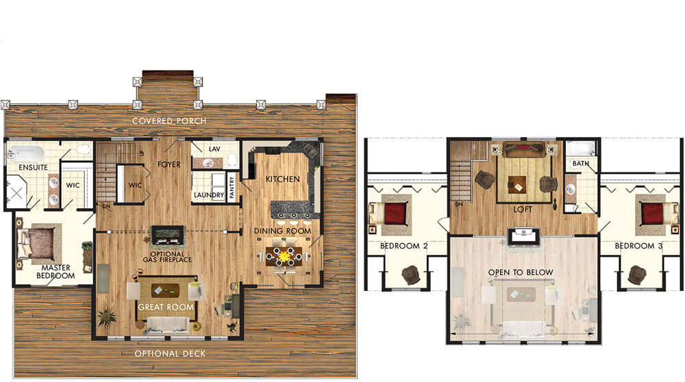 Beaver homes and cottages copper creek ii for Copper creek homes floor plans