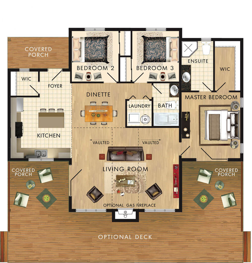 Dorset II on 1200 Square Foot House Plans