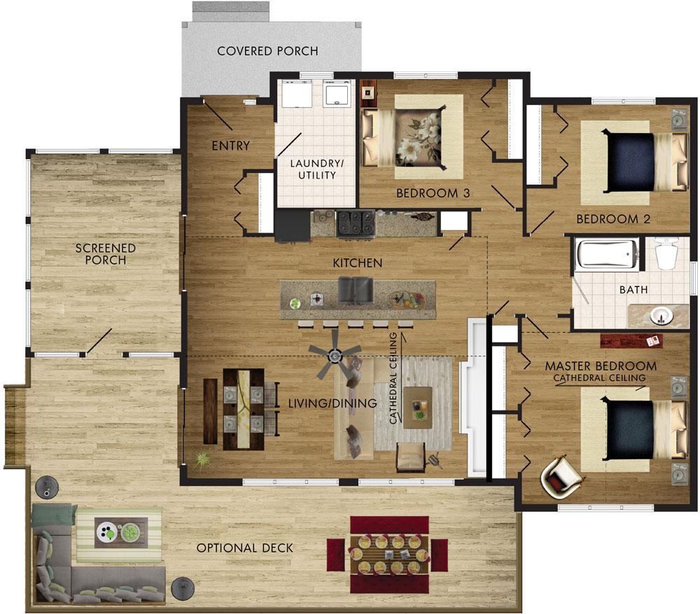 Lodgepole Floor Plan