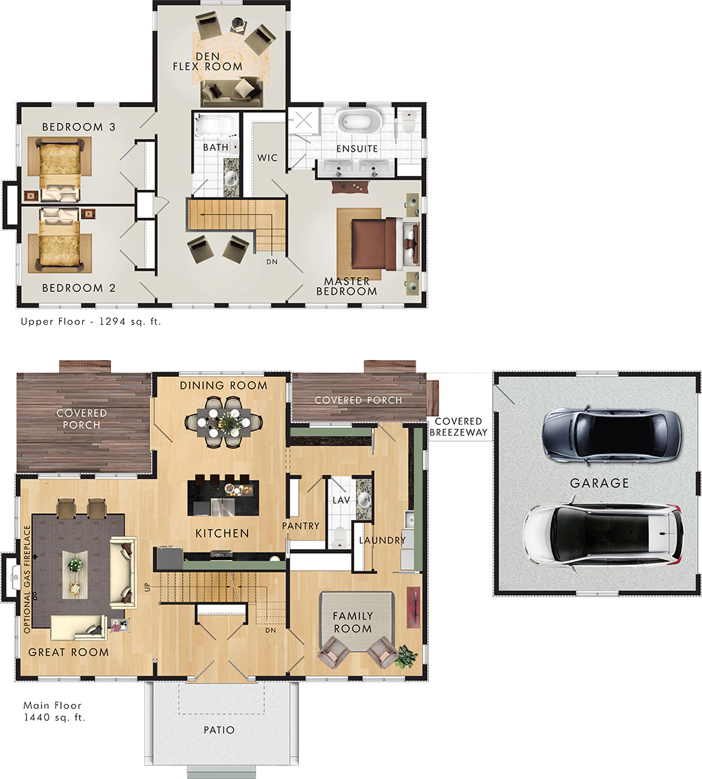 Beaver homes and cottages rolling meadow for High end house plans