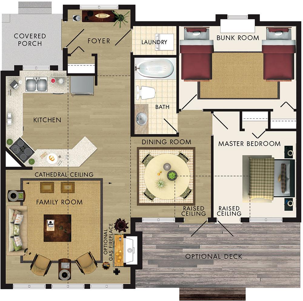 Aspen I Floor Plan