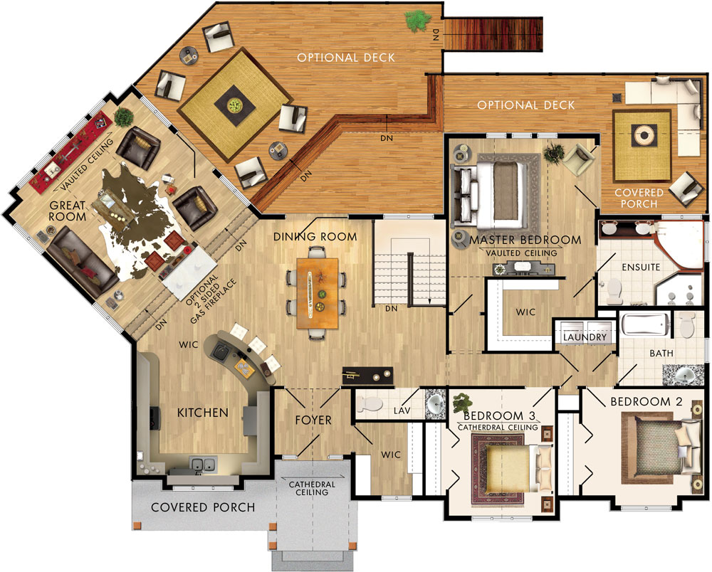 Beaver homes and cottages glenbriar i for Cedar home floor plans