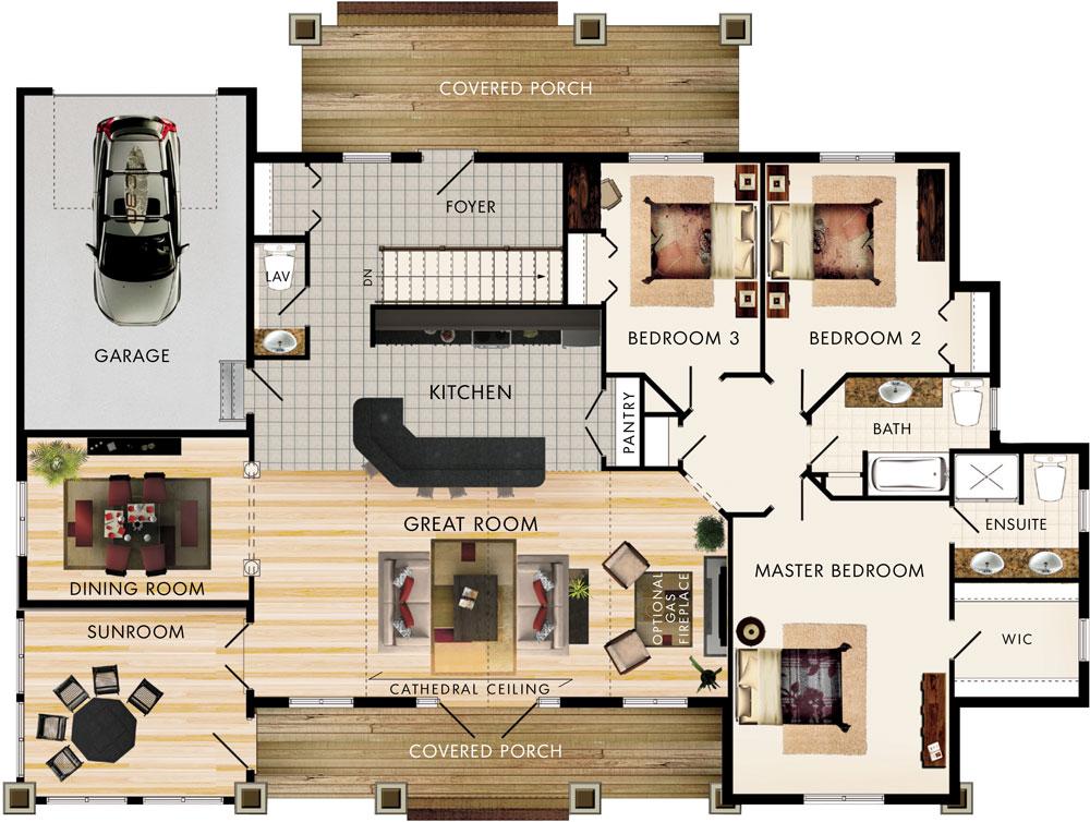 Beaver homes and cottages inglenook for Home hardware floor plans