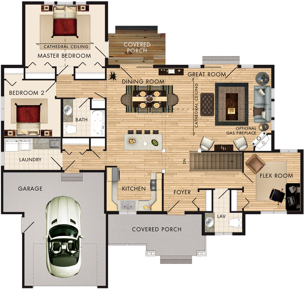 Beaver homes and cottages springbank for Home hardware floor plans