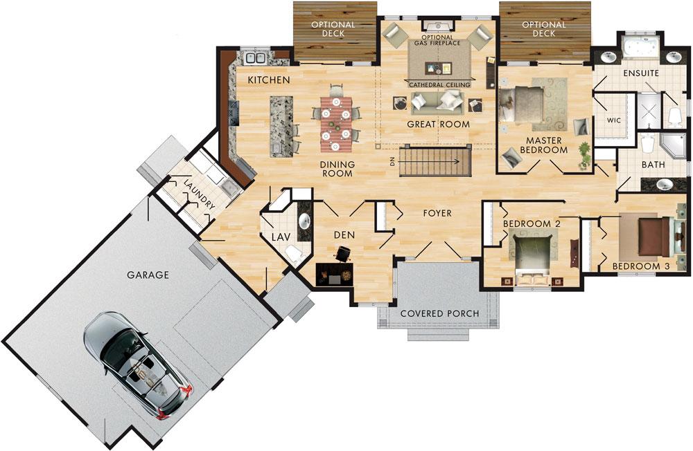 Home hardware house plans cedar glen for Home hardware plans