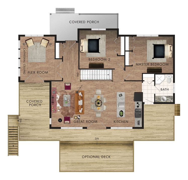 Peppermill house plan home hardware for Home hardware house plans