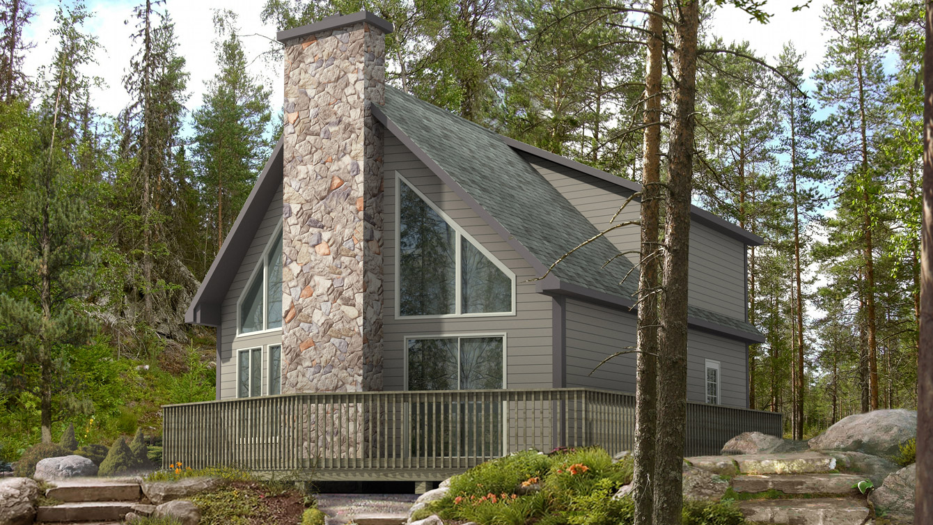 Beaver homes and cottages trillium for Cottage plans home hardware