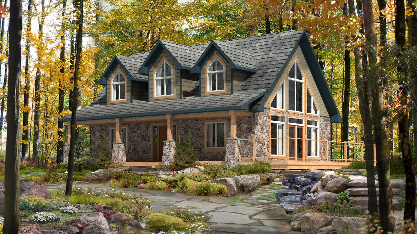 Beaver homes and cottages gatineau for Cottage plans home hardware