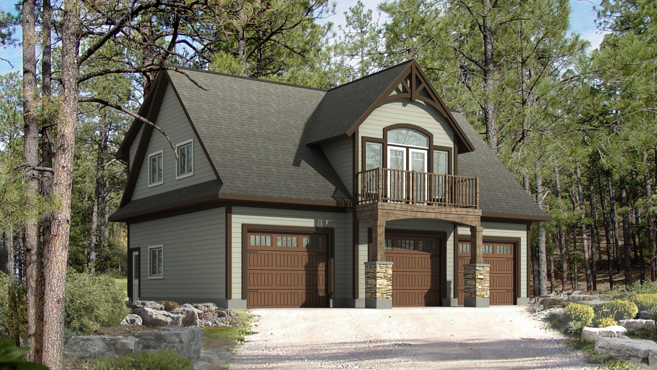 Whistler II on a frame cabin house plan