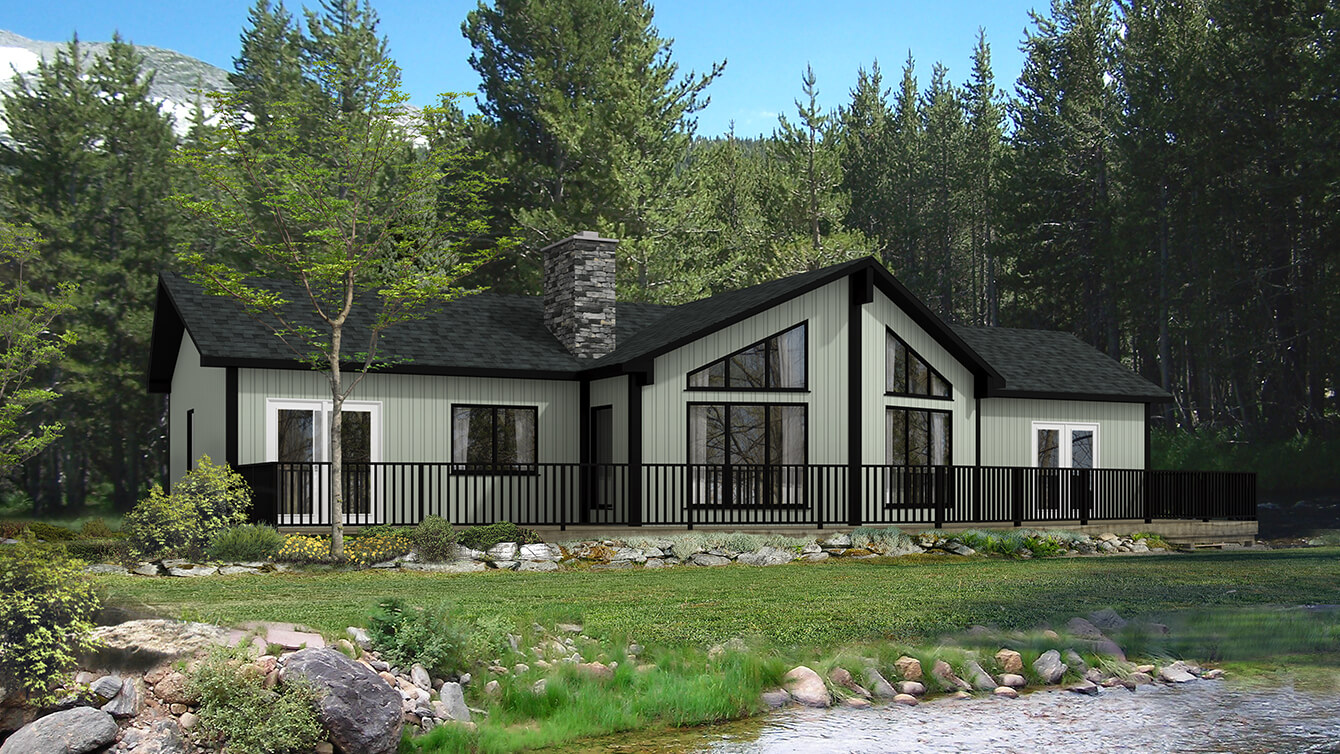 Beaver homes and cottages banff iii for Cottage plans home hardware