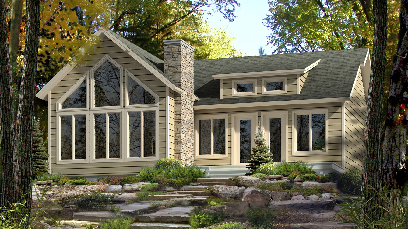Beaver homes and cottages aspen i for Cottage style roof design