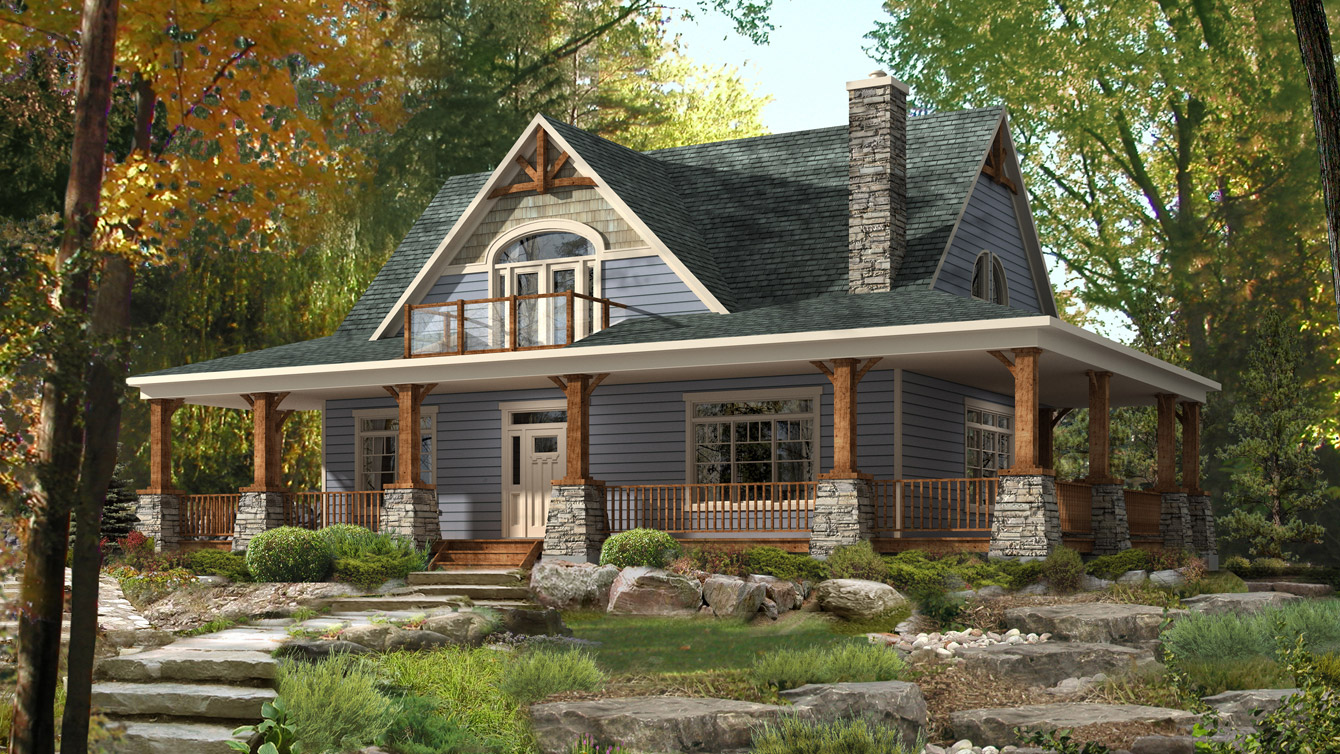 Beaver homes and cottages limberlost tfh for Basic cabin designs