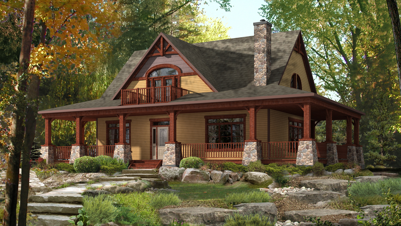 Beaver homes and cottages limberlost for Cottage plans home hardware