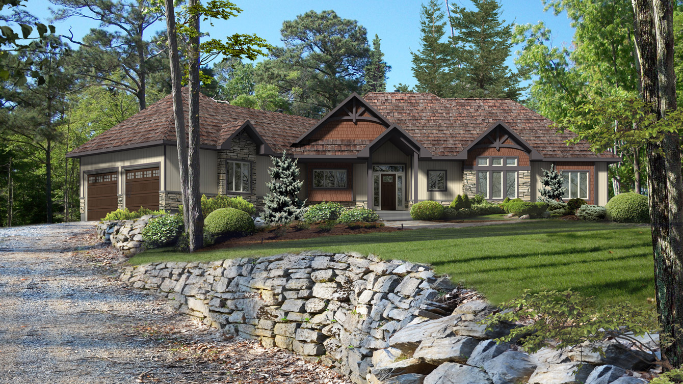 Beaver homes and cottages glenbriar ii for Brick kit homes