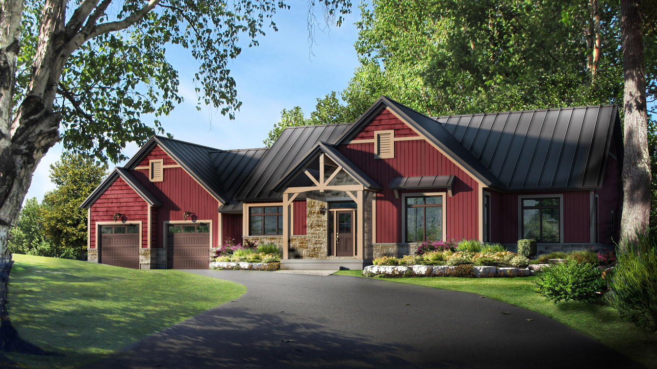 Beaver homes and cottages elk ridge for Cottage plans home hardware