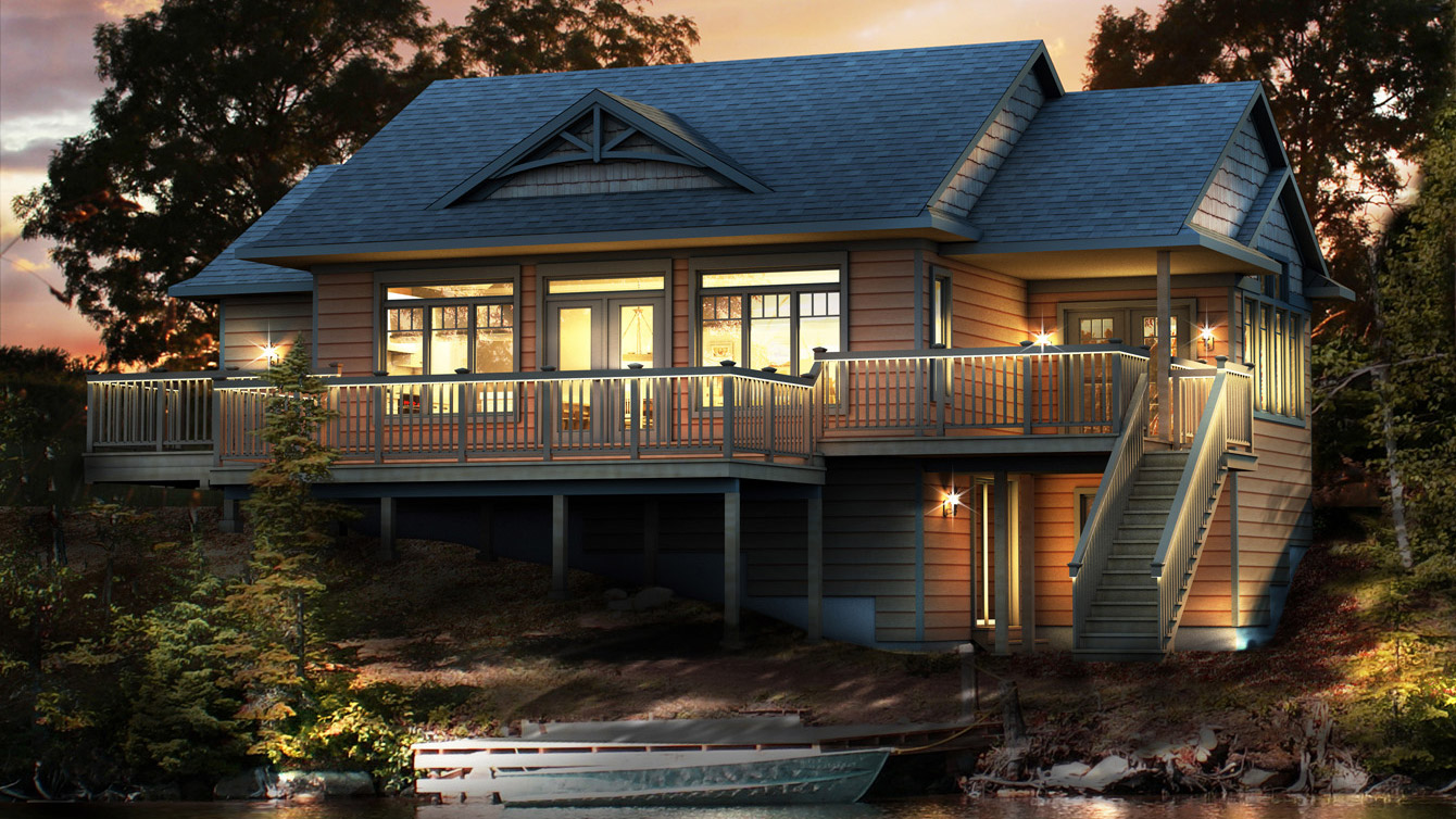 Beaver homes and cottages peppermill for Cottage plans home hardware