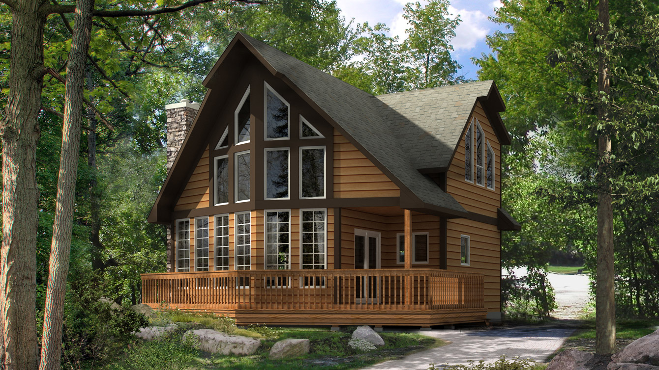 Beaver homes and cottages beauport i for Cottage plans home hardware